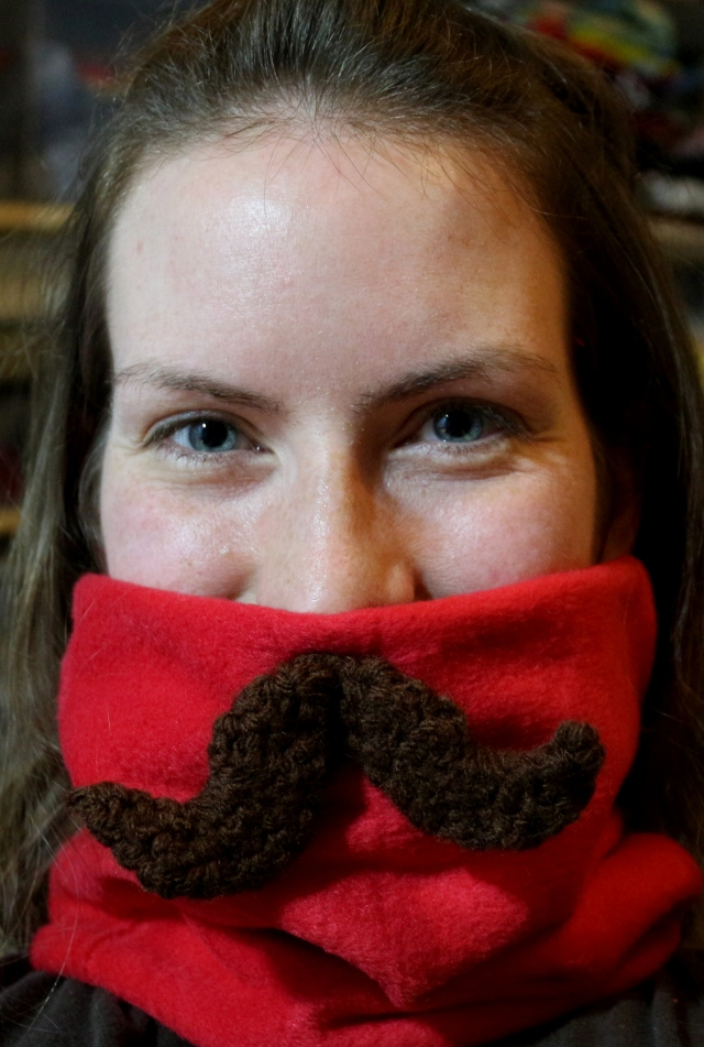 Moustache Neck Warmer
