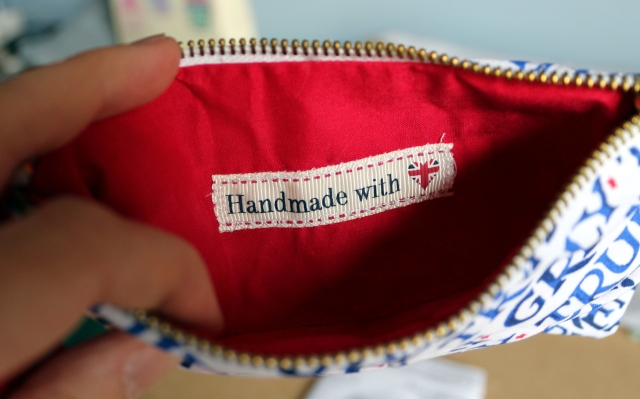 Red Velvet Mini Clutch (inside)