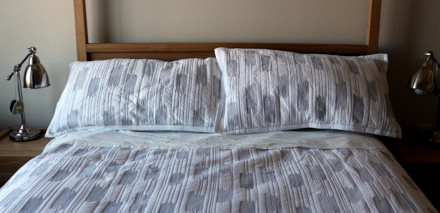 Crate and Barrel Stitch Bedding