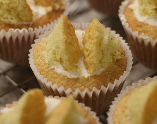 Lime and Coconut Butterfly Cakes