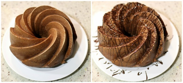 Whole Orange Bundt Cake with Chocolate Drizzle
