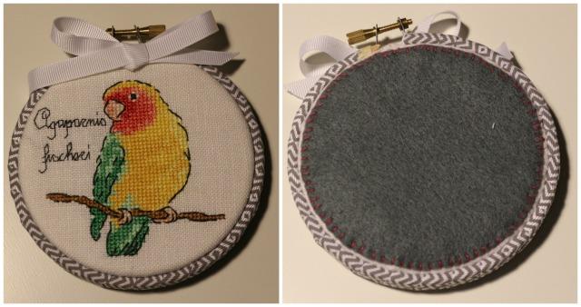 Lovebird Cross Stitch - Agapornis fischeri