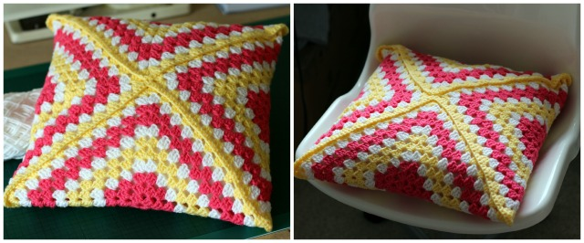 Granny Square Cushion