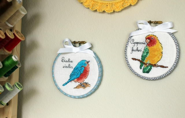Bluebird cross stitch