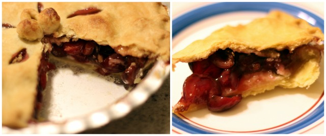 Cherry and Almond Pie: Action shot