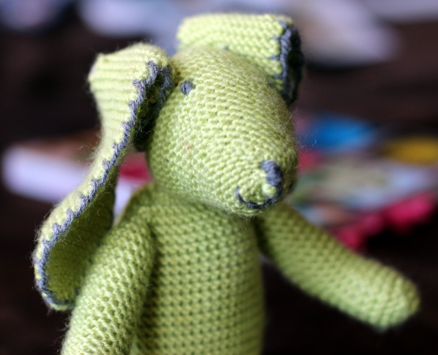 Rabbit with Blanket Stitch Detail