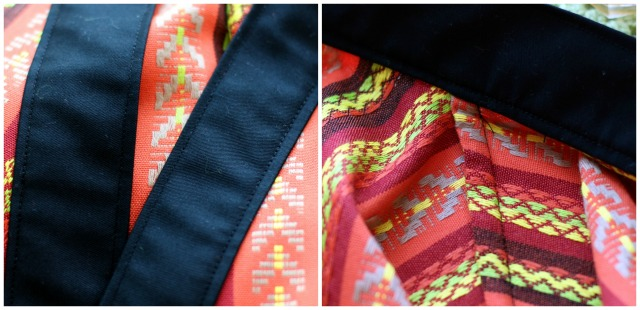 Colourful Kimono Jacket Construction Details