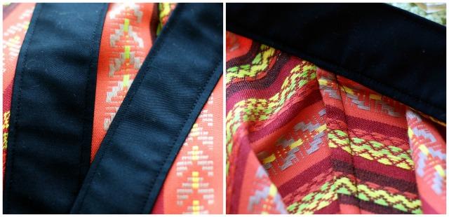 Colourful Kimono Jacket Construction Details