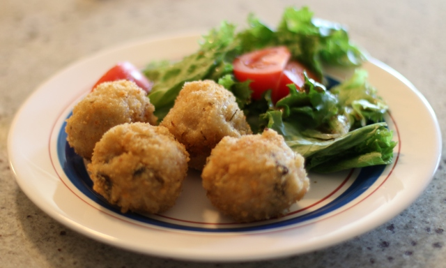 Arancini and Salad