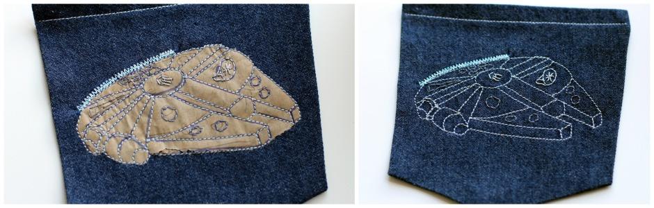 Jedediah Pants Millennium Falcon Pocket Details