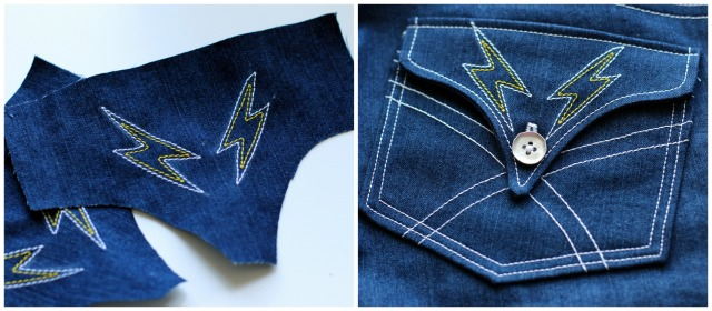 Slender Bell Jean Pocket Detail