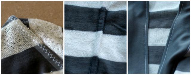 Stripey Kimono Jacket Construction Details