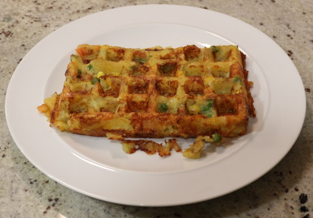 Waffled Leftover. With added Cheese