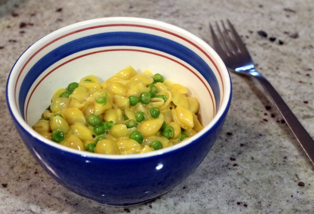 Velveeta Shells and Cheese (and Peas)
