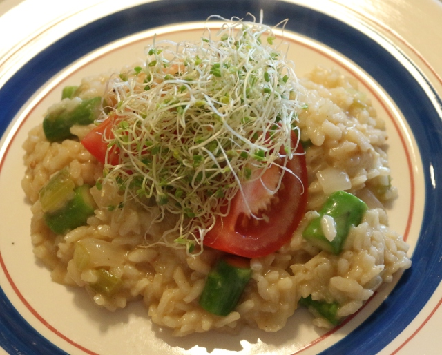 Spicy Cheddar and Asparagus Risotto