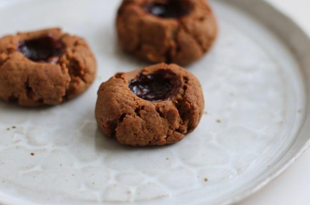 Almond Thumbprint Cookies
